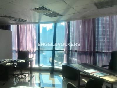 Office for Rent in Jumeirah Lake Towers (JLT), Dubai - Stylishly  Fitted Office  With lake view