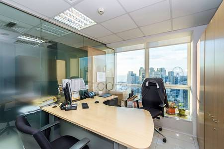 Office for Rent in Jumeirah Lake Towers (JLT), Dubai - Premium fitted office for rent in JLT