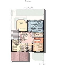 3 Bed Townhouse 1st floor