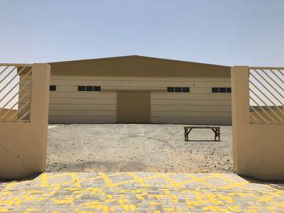 Industrial Land for Sale in Al Jurf, Ajman - Land of industrial 27550 s 2, built on the shabra 11000 s 2 and the rest of the electricity is 100 k