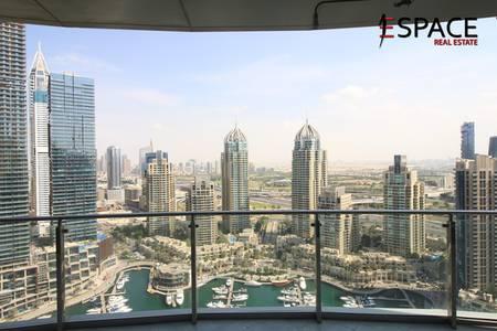2 Bedroom Apartment for Rent in Dubai Marina, Dubai - Unfurnished   Marina and Sea View   High Floor