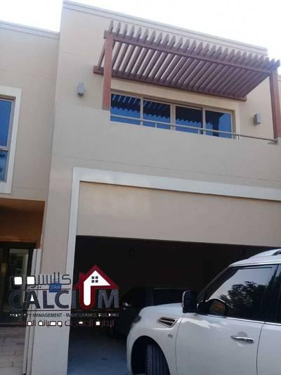 4 Bedroom Villa for Rent in Al Raha Gardens, Abu Dhabi - Complex Villa in alsamra compound 4 BR with Maid room.