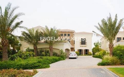 6 Bedroom Villa for Rent in Jumeirah Golf Estate, Dubai - Diva Entrance I Huge Plan I Community View