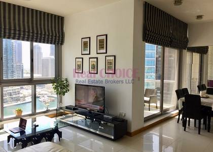 2 Bedroom Flat for Rent in Dubai Marina, Dubai - High Quality Furniture | Mid Floor 2BR
