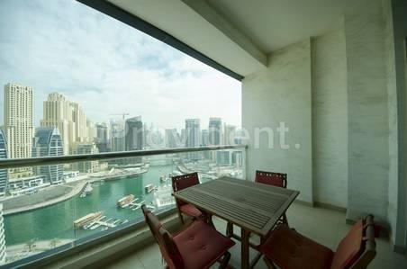 2 Bedroom Apartment for Rent in Dubai Marina, Dubai - Full Marina View|Spacious 2Bed| DEC T2