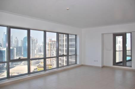 1 Bedroom Flat for Rent in Downtown Dubai, Dubai - Overlooking Burj Khalifa 1 Bed on High Floor  100k  -South ridge 2-Downtown Dubai