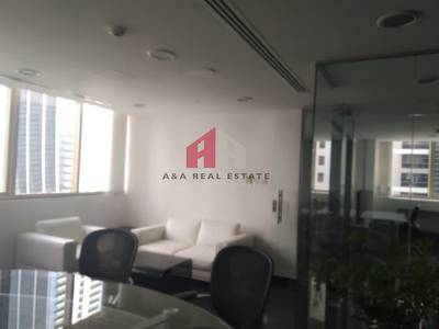 Office for Rent in Jumeirah Lake Towers (JLT), Dubai - Furnished & partitioned office for Rent in fortune Executive Tower