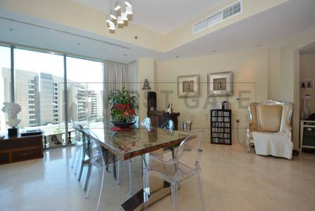 3 Bedroom Apartment for Rent in Dubai Marina, Dubai - Semi-furnished | Study | 2 Parking | Vacant