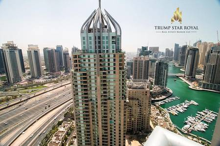 3 Bedroom Penthouse for Rent in Dubai Marina, Dubai - 3Br Duplex in Emaar Six Towers