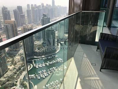 2 Bedroom Apartment for Rent in Dubai Marina, Dubai - New Furniture | High Floor | Marina View