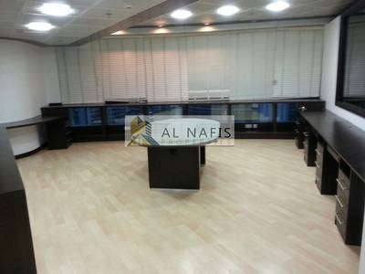 Office for Rent in Jumeirah Lake Towers (JLT), Dubai - Partially fitted office with Pantry & Washroom