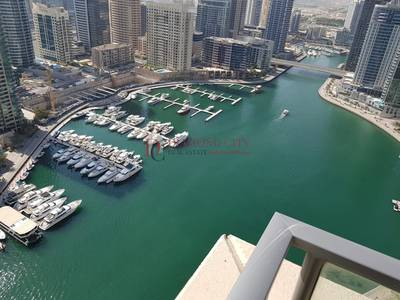 2 Bedroom Apartment for Rent in Dubai Marina, Dubai - Spacious  2 BR with Marina View   High Floor   Vacant