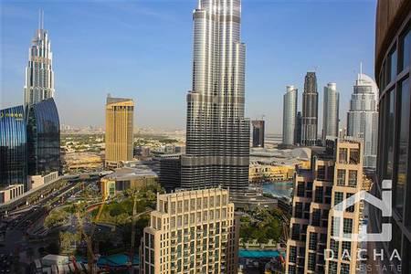 2 Bedroom Apartment for Rent in Downtown Dubai, Dubai - 2 BED HIGH FLOOR BURJ VIEW 4CHQS