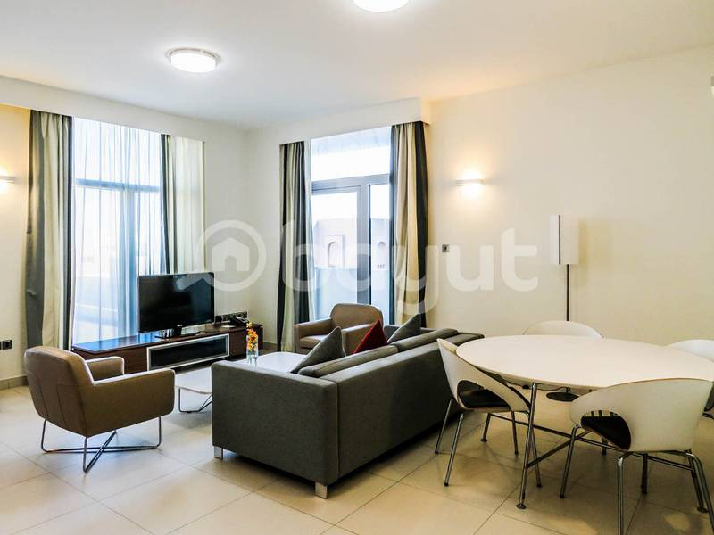 Fully Furnished Executive 1 bedroom apartment with balcony - Al Bustan Complex