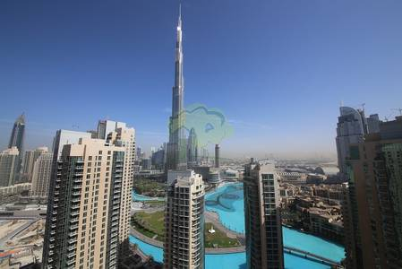 2 Bedroom Apartment for Rent in Downtown Dubai, Dubai - Furnished apt overlooking Burj Khalifa and Fountains