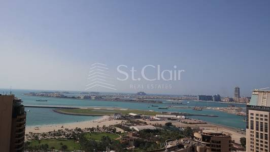 2 Bedroom Apartment for Rent in Dubai Marina, Dubai - 2BR Trident Grand Residence Tower|Sea View