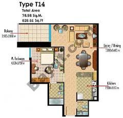 Type T14 1 Bedroom