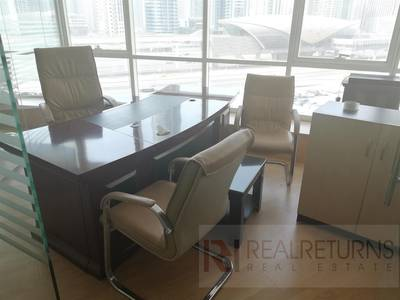 Office for Rent in Jumeirah Lake Towers (JLT), Dubai - [EC] Furnished Office for rent w. 3 Glass partitions