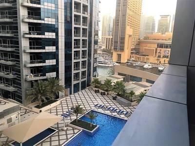 1 Bedroom Flat for Rent in Dubai Marina, Dubai - Marina view from a cozy apt & Bay Central