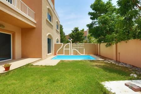 5 Bedroom Villa for Sale in Al Reef, Abu Dhabi - Single Row Corner 5+1+M Villa with Pool