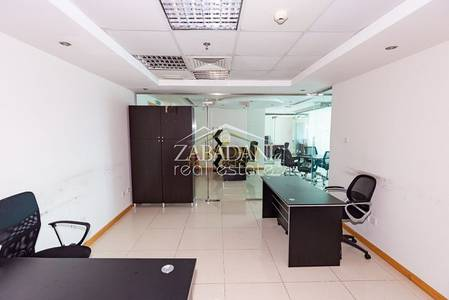Office for Rent in Jumeirah Lake Towers (JLT), Dubai - Economical Fully Furnished office next to Metro in JLT