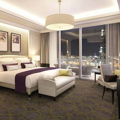 2 Bedroom Apartment for Rent in Downtown Dubai, Dubai - High Floor! Luxury Furnished 2 Bedrooms!