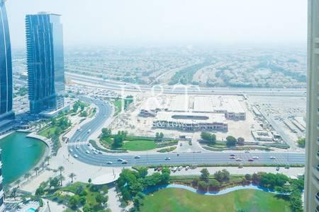 Studio for Rent in Jumeirah Lake Towers (JLT), Dubai - Large Studio | Lake View and Golf view| Saba Tower 2