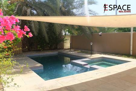 3 Bedroom Villa for Rent in The Springs, Dubai - Spacious Living Room  - Stylish -  Type3M