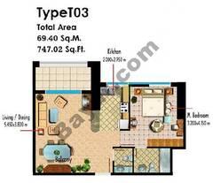 Type T03 1 Bedroom
