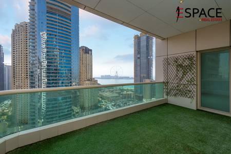 2 Bedroom Apartment for Sale in Dubai Marina, Dubai - Vacant Apartment with Full Sea View
