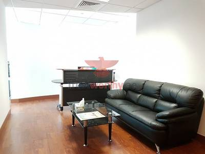 Office for Rent in Jumeirah Lake Towers (JLT), Dubai - Fitted furnished office for rent in Tiffany Tower JLT