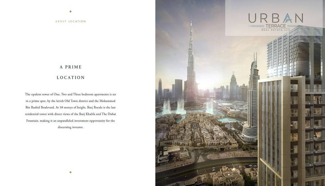 2 Burj Royale I Full Burj Khalifa District I 2% DLD Waiver