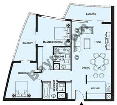 Floors (26-37) 2 Bedroom Type B