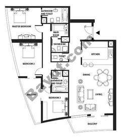 Floors (26-37) 3 Bedroom Type A