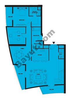 Floors (38-39) 5 Bedroom Penthouse