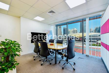 Office for Rent in Jumeirah Lake Towers (JLT), Dubai - Beautiful Office Fully Fitted Glass Partitioned On Metro Indigo Tower JLT