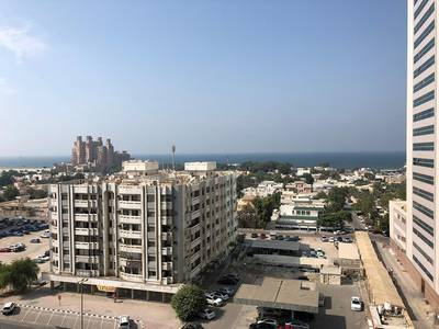 1 Bedroom Flat for Rent in Al Sawan, Ajman - 1 bhk full sea view with parking for rent in Ajman one tower