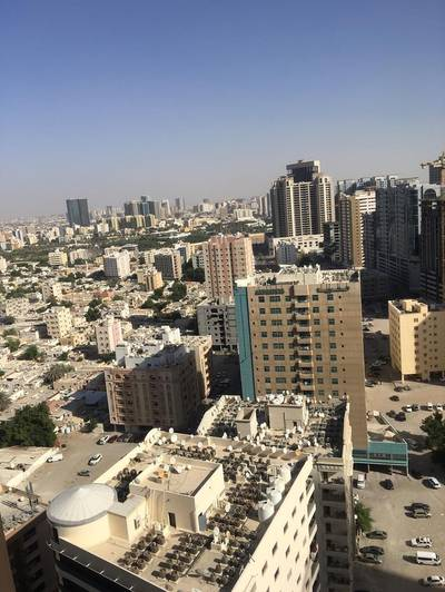 1 Bedroom Flat for Rent in Al Sawan, Ajman - 1 bhk biggest size city view in Ajman one tower