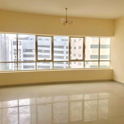 3 Bedroom Flat for Rent in Al Taawun, Sharjah - 3Bhk with Wardrobe Maid room Laundry Just 50k  40 days free