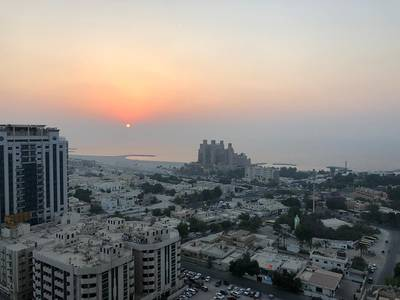 2 Bedroom Apartment for Rent in Al Sawan, Ajman - 2 bhk full sea view with free parking in Ajman one tower