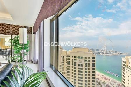 شقة 4 غرفة نوم للبيع في مساكن شاطئ جميرا (JBR)، دبي - Fully Upgraded | Sea and Ain Dubai Views