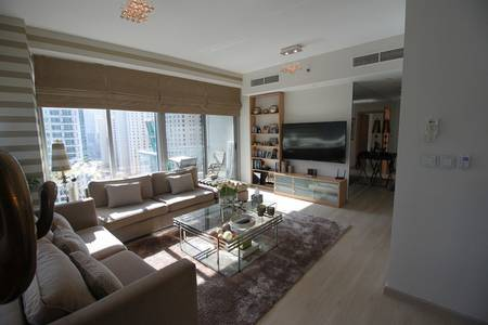 2 Bedroom Flat for Rent in Dubai Marina, Dubai - 2 BEDROOM UPGRADED FURNISHED WITH PARTIAL MARINA VIEW AVAILABLE TO RENT NOW