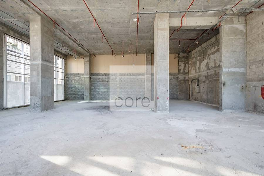 2 Shell and core retail space on low floor