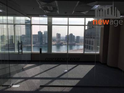 Office for Sale in Business Bay, Dubai - Fitted Office Canal View And 3 Glass Cabins For Sale