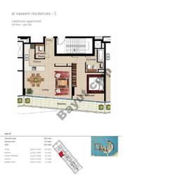 1 BR APT BLDG C,5th floor , Plot505, Type 1D