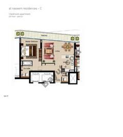 1 BR APT BLDG C,5th floor , Plot511, Type 1F