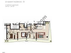 3 BR APT BLDG B, 10th Floor, Plot 1001, Type 3L