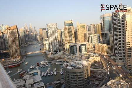 2 Bedroom Apartment for Rent in Dubai Marina, Dubai - Unfurnished- Partial Marina View- Vacant