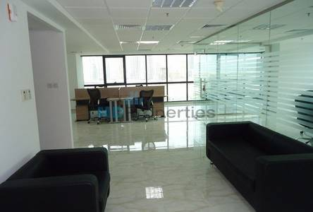 Office for Rent in Jumeirah Lake Towers (JLT), Dubai - Fitted and Furnished Office with Partition in JLT JBC