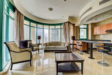 2 Bedroom Flat for Rent in Dubai Marina, Dubai - Furnished 2BR with Sea View
